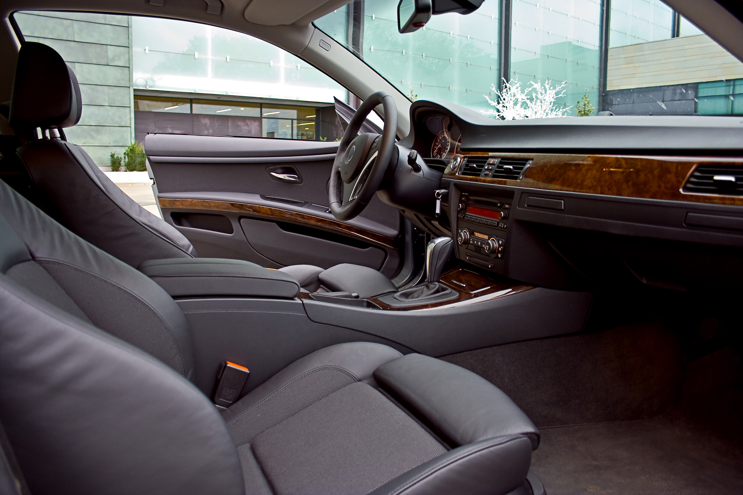 Car Interior-Black Cloth Seats