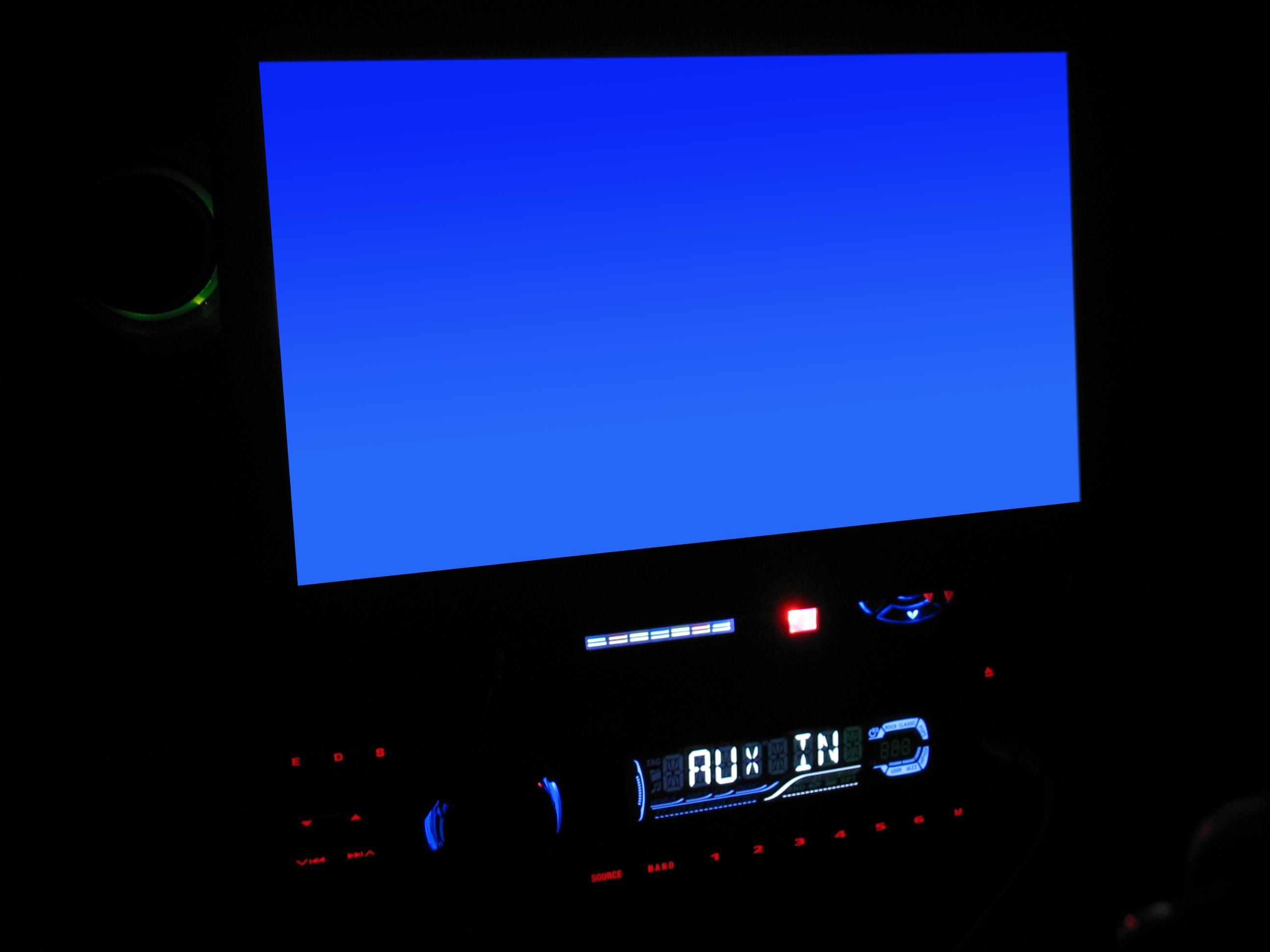 Car Navigation System-Blue Screen