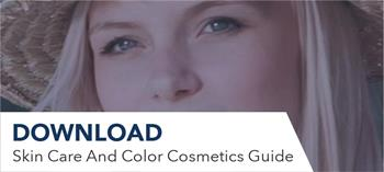 Download button for skin care and color cosmetics guide