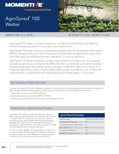 Agrospred 100 Wetter